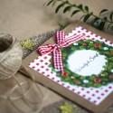 Kartka świąteczna - Świąteczny Wianek
