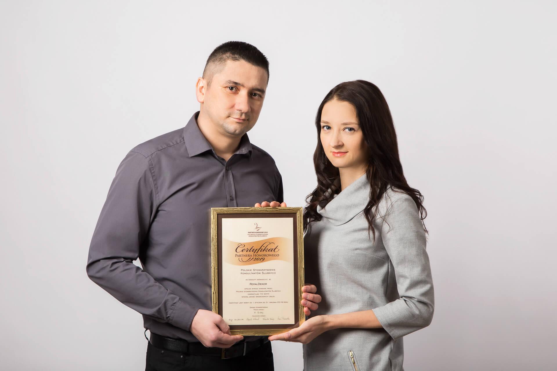 nagroda dla royaldekor, certyfikat psks