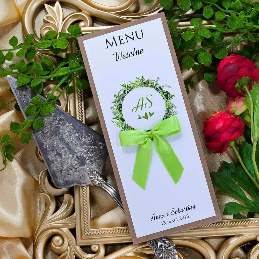 menu weselne greenery
