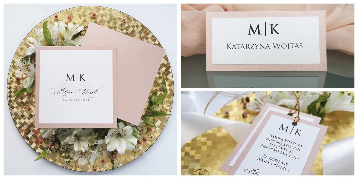 zaproszenia na ślub minimalistyczne, delikatne