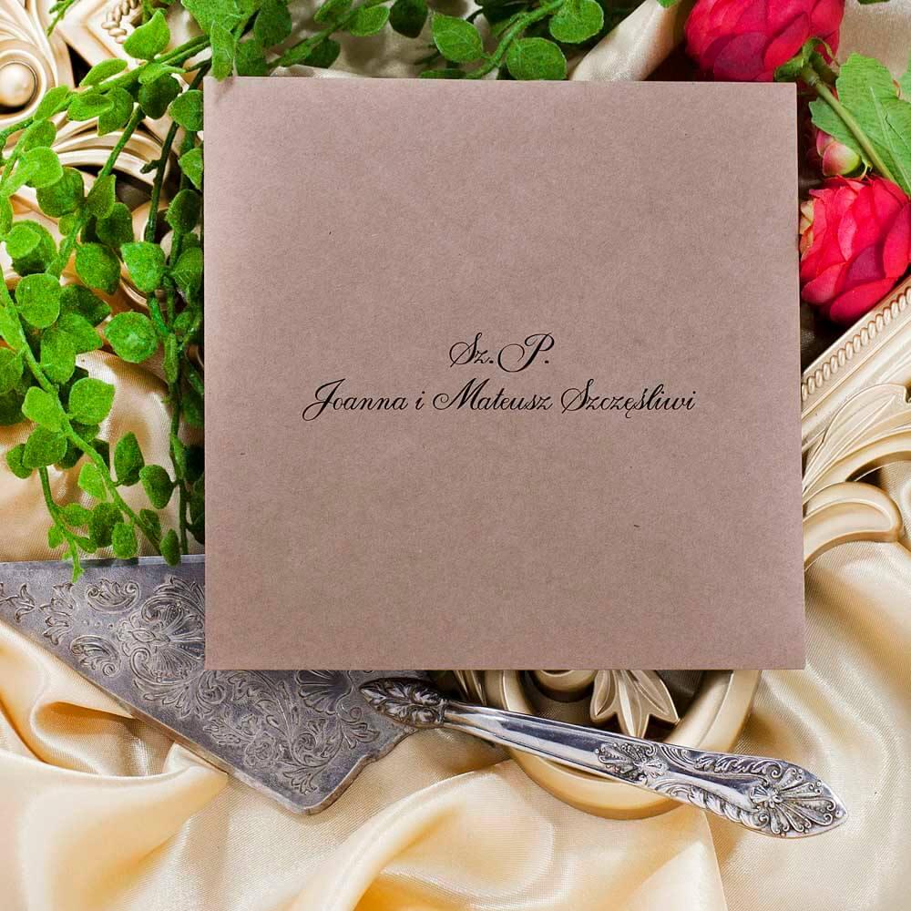 personalizacja koperty ślubnej eko