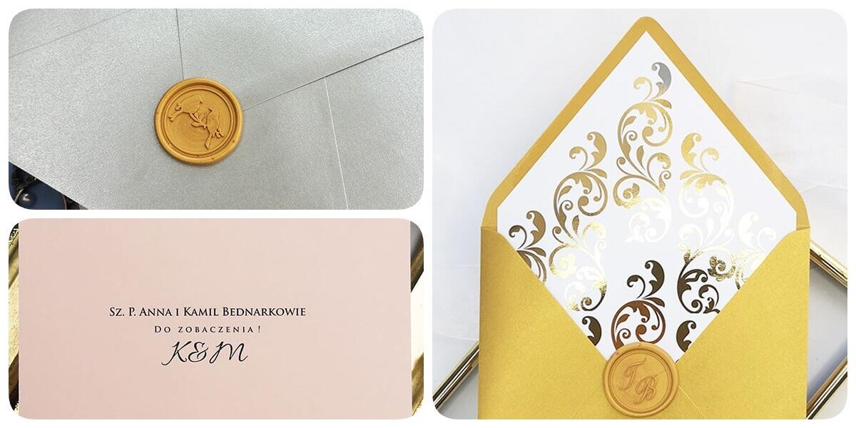 nadruk nazwisk gości weselnych, personalizacja kopert