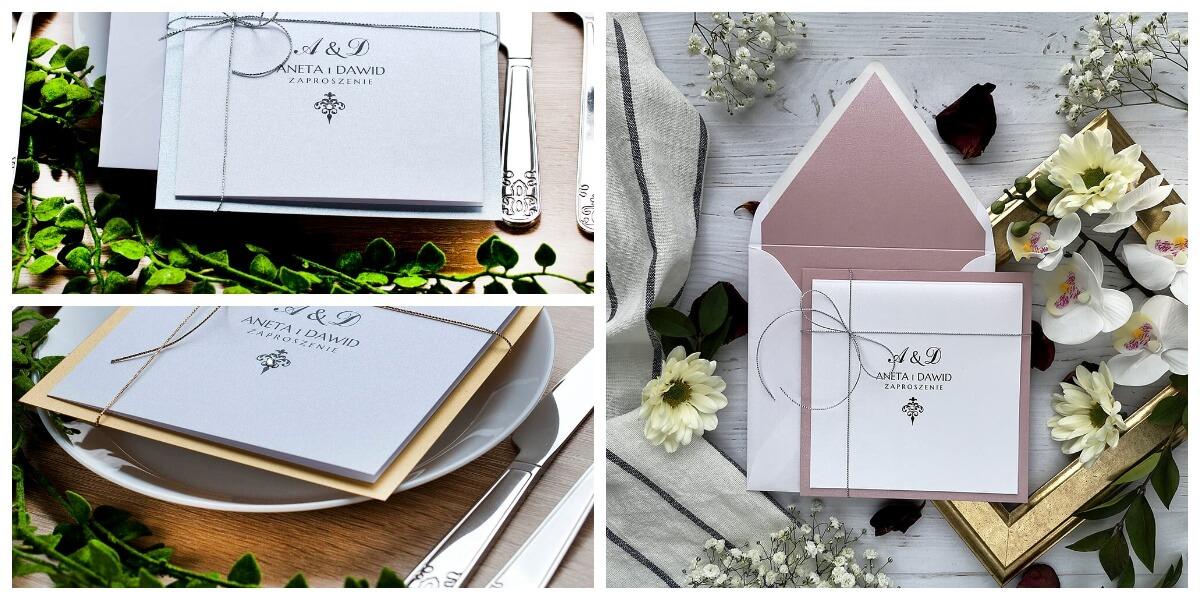 zaproszenia klasyczne na wesele i ślub