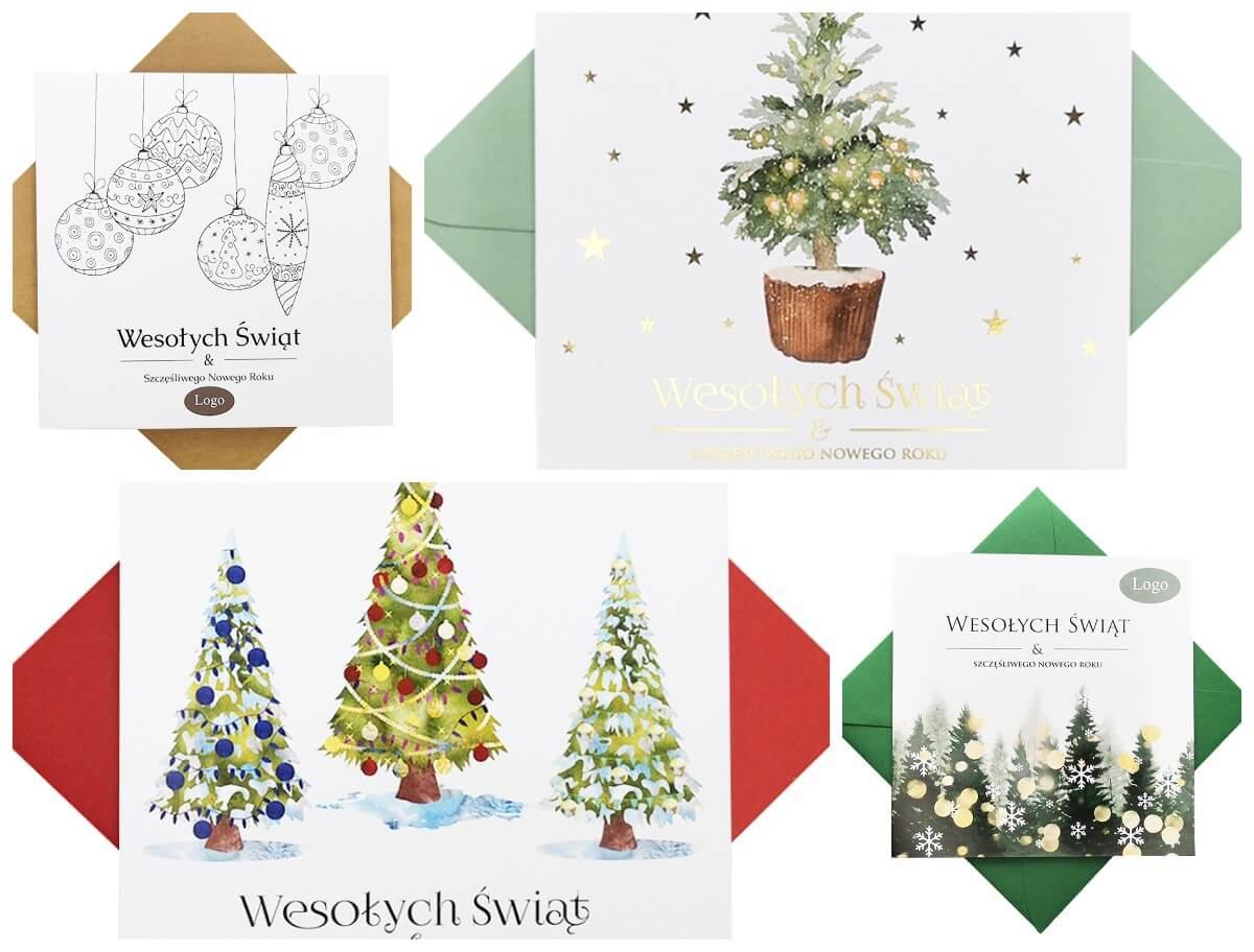 Personalizowane kartki bożonarodzeniowe z logo firmy