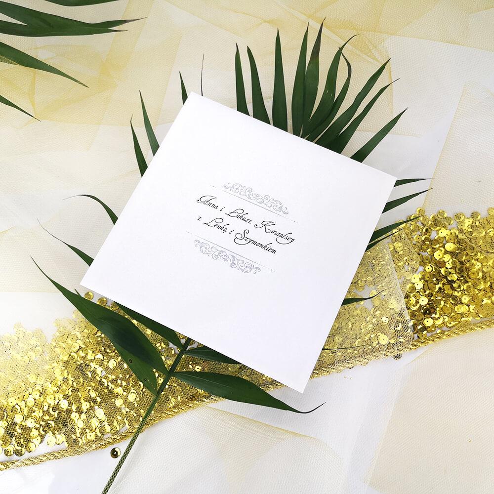 Personalizowana koperta weselna w aranżacji