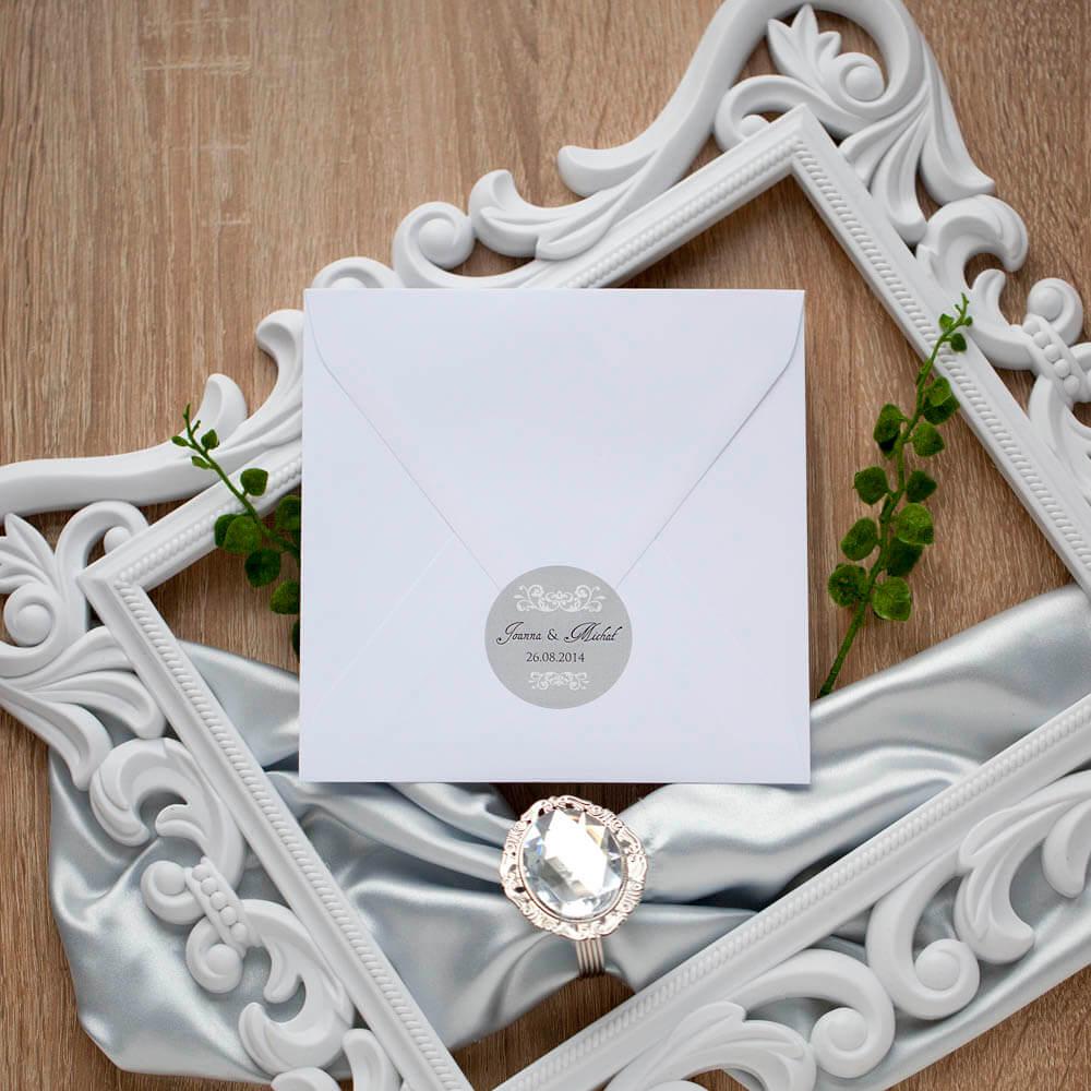 naklejka-na-koperty-ślubne-srebrne