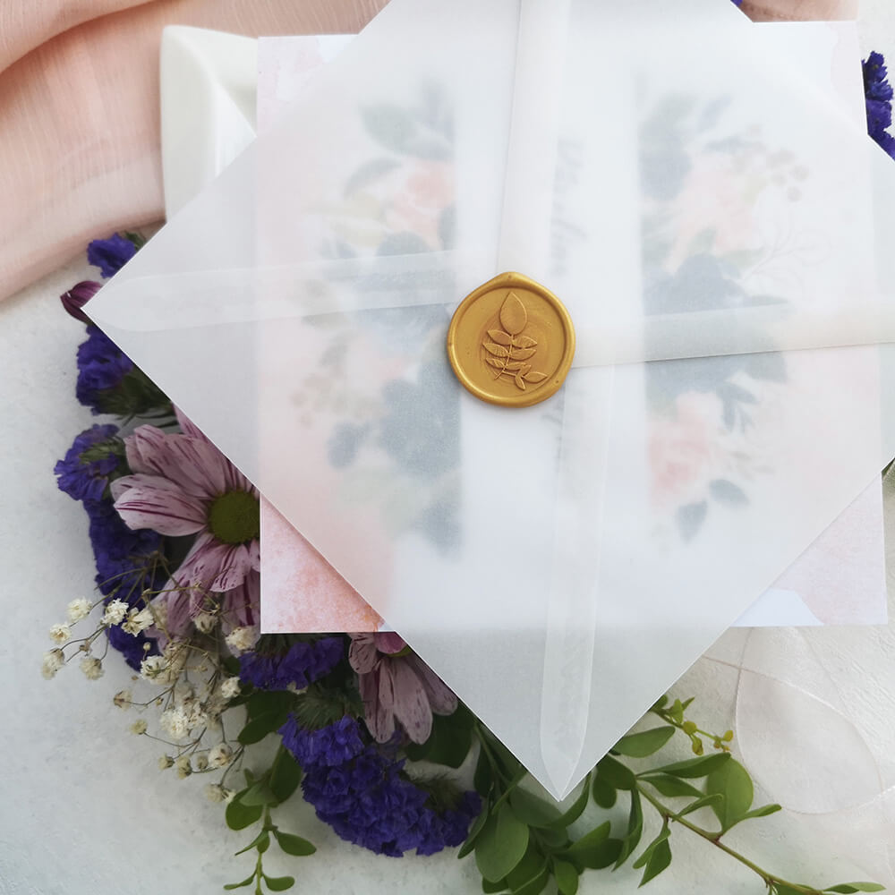 transparentna koperta ozdobna ślubna