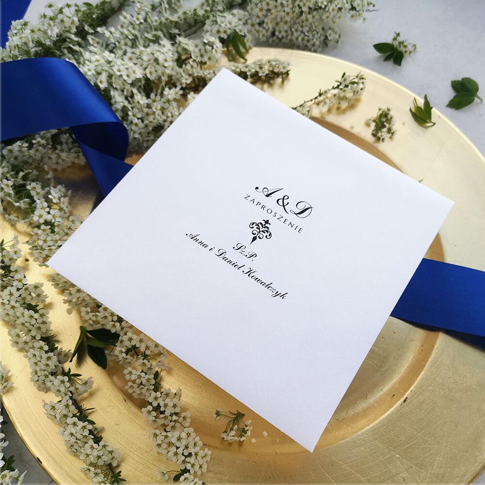 spersonalizowana koperta ślubna minimalistyczna