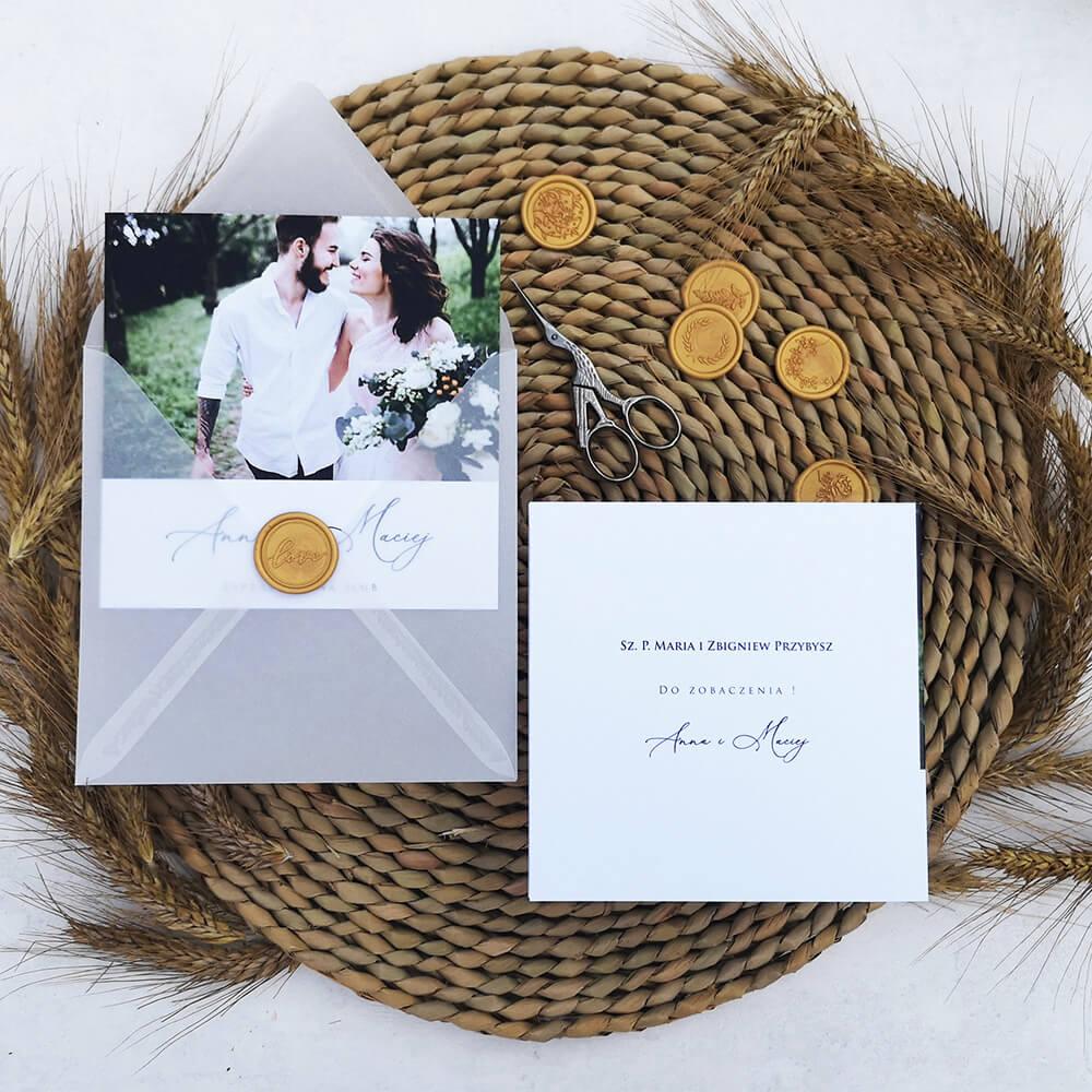 Zaproszenie z listkami wraz z personalizacją listy gości
