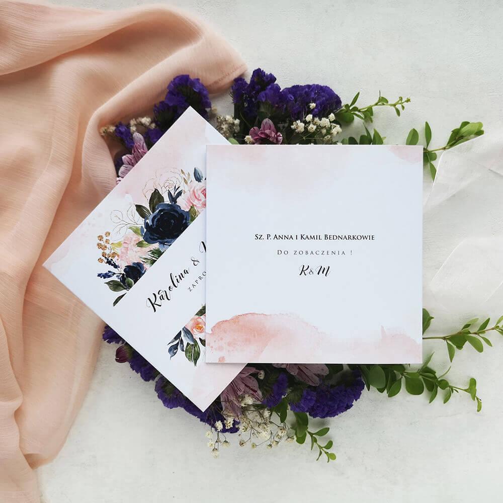 Spersonalizowane zaproszenie ślubne dla koperty transparentnej