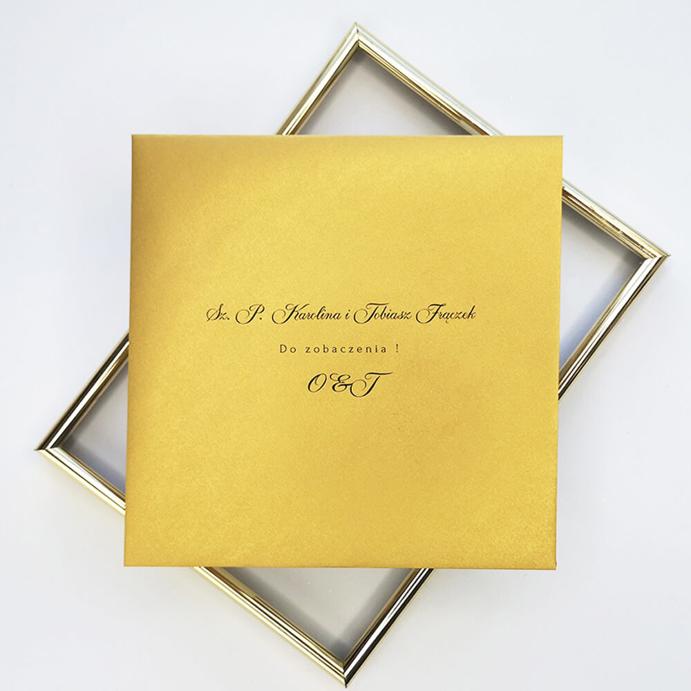 spersonalizowana koperta ozdobna metalizowana złota