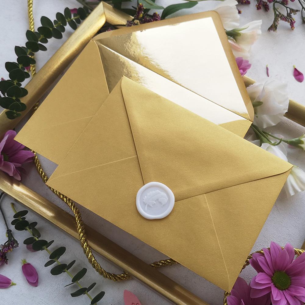koperta ozdobna złota z białym lakiem, kolekcja Złote Retro