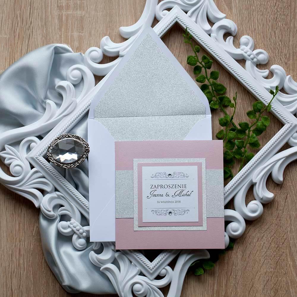 wrzosowe zaproszenia weselne