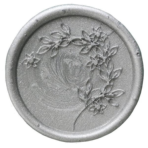 lak srebrny do koperty ślubnej
