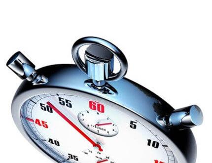 Zegar symbolizujący szybką realizację zlecenia.